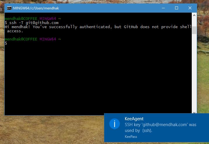 Using KeePass to serve SSH keys - Mendhak / Code